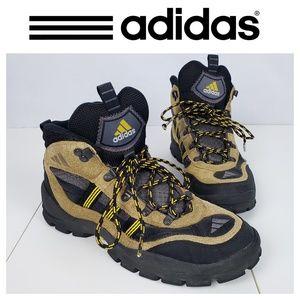 Adidas Vintage Hiking Boots Brown Black Size 11.5